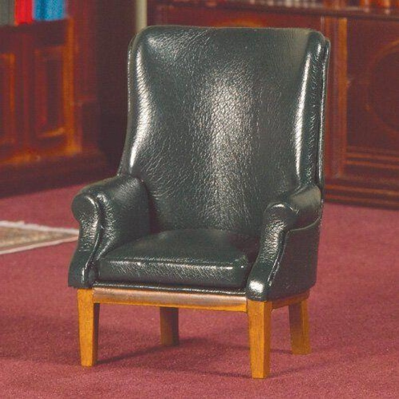 Green Leather Porters Chair