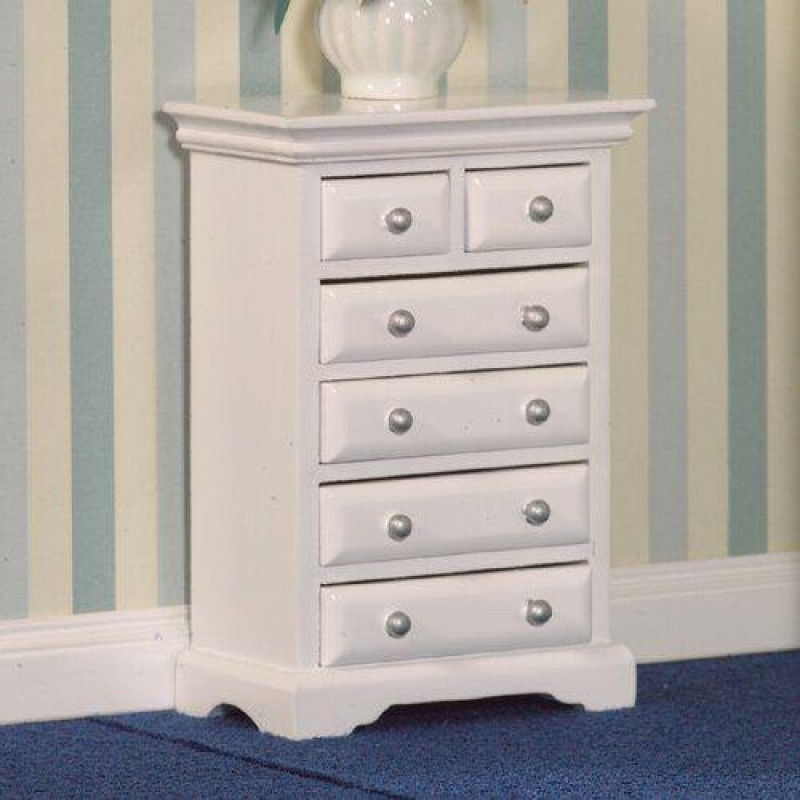 White Chest of Six Drawers