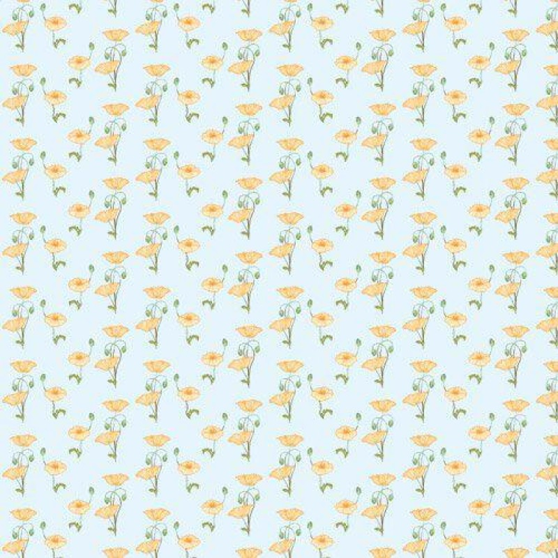 Yellow Poppy Wallpaper 430 x 600mm