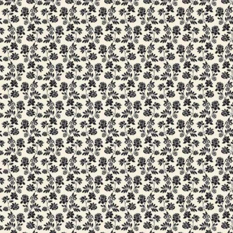 Black Floral Wallpaper 430 x 600mm