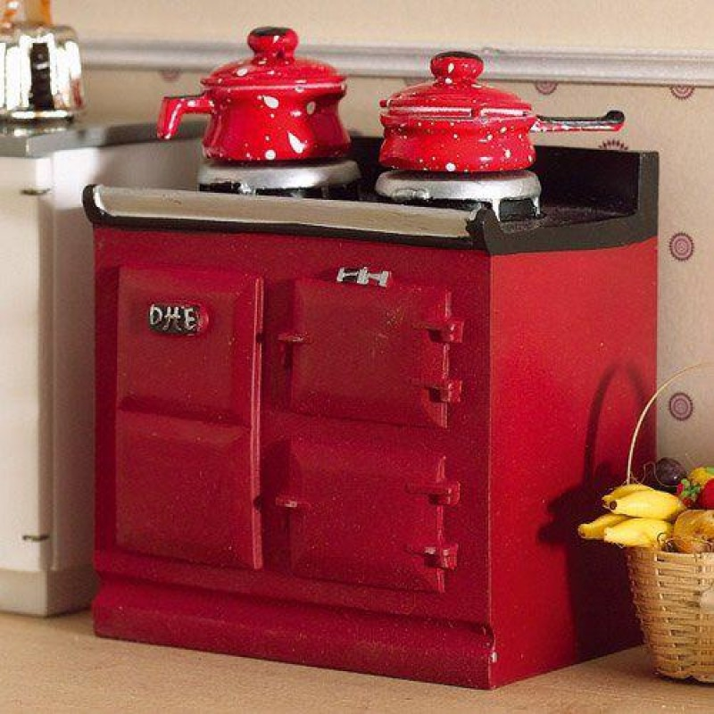 Red Aga-style Stove (PR)