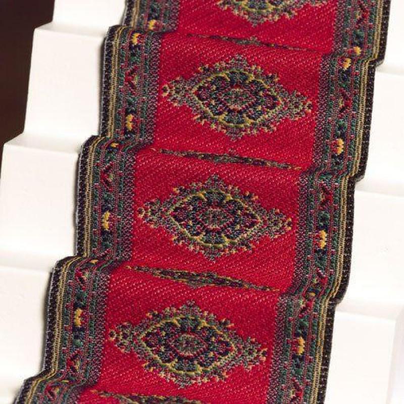 Red Motif Stair Carpet 500 x 50mm