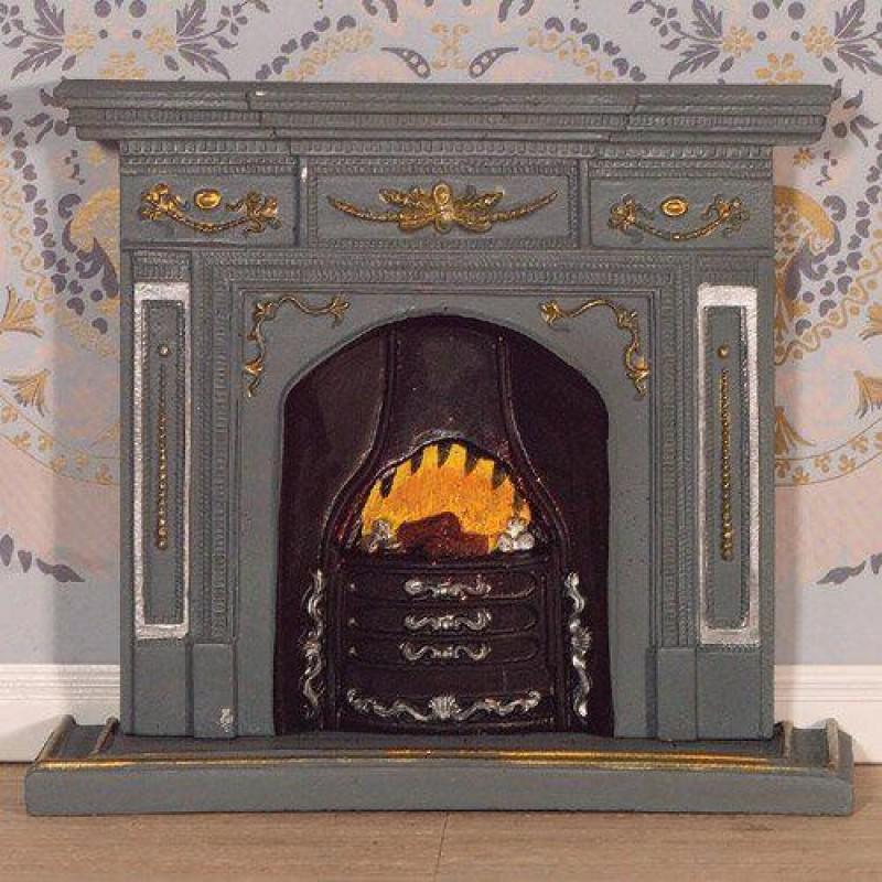 Large Grey/Gold Fireplace (PR)