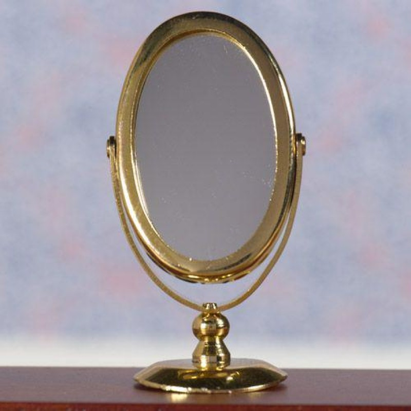 Gold Tilting Mirror & Stand
