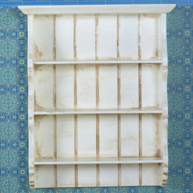 The Dolls House Emporium Aged Cream Wall Shelves