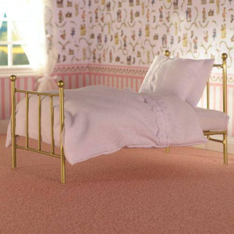 Brass Single Bed & Mattress
