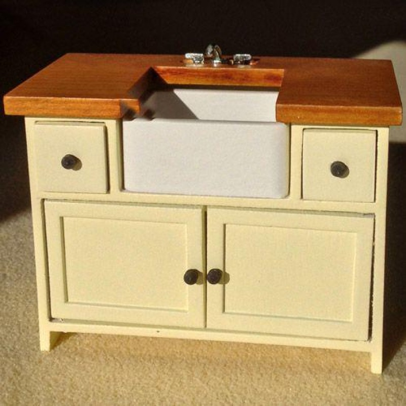 Cream Shaker-style Sink Unit