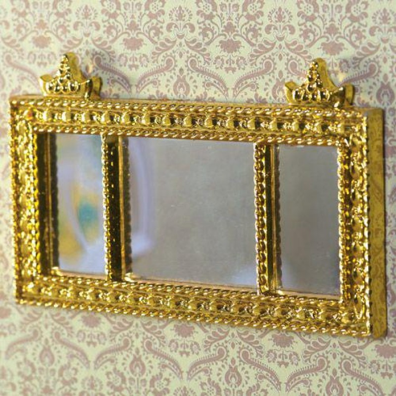 Gold Landscape Mantel Mirror