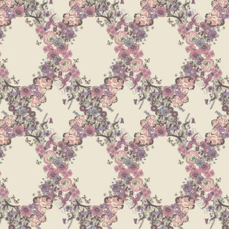 Meadow Flower Chain Wallpaper 430 x 600mm