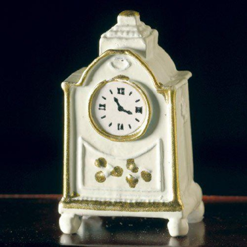 White Clock with Gold Edging