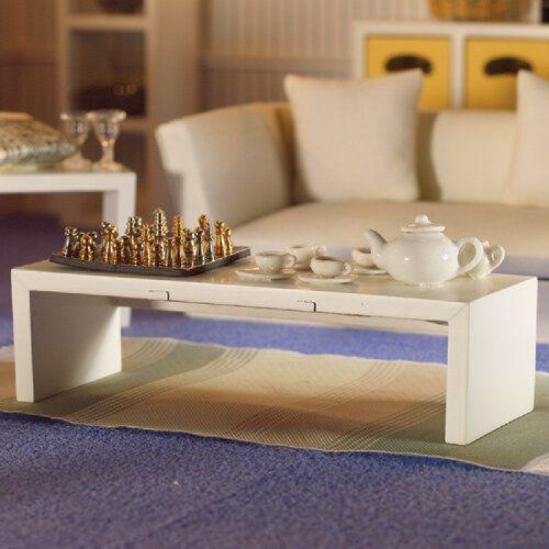 Modern White Low Table/Shelf