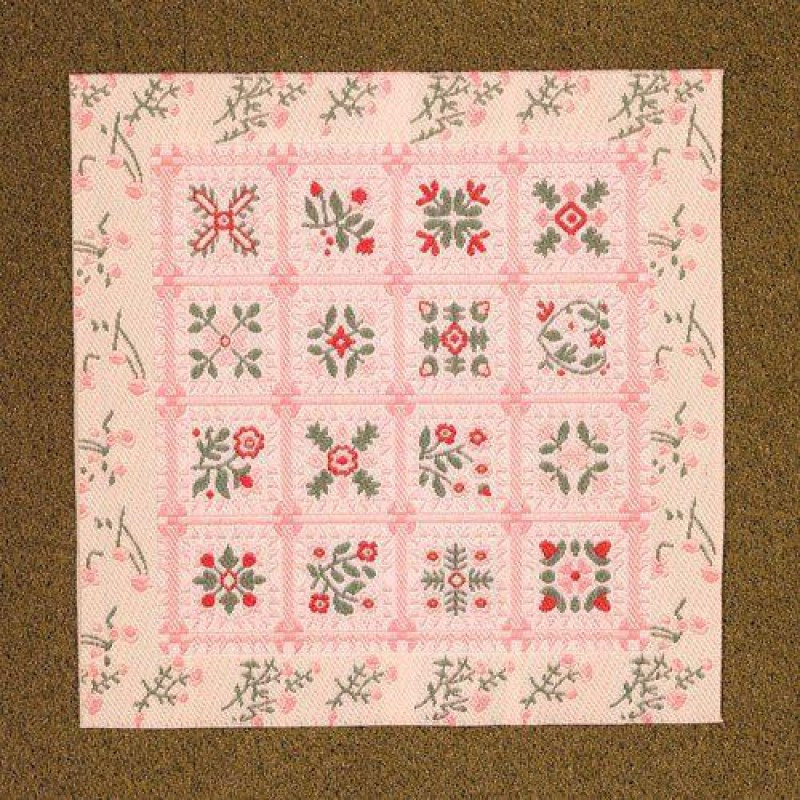 Pink Patchwork Rug or Blanket 120 x 120mm