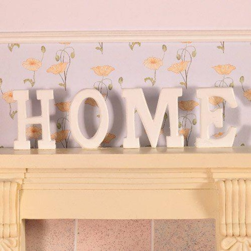 HOME Letters in wood, 4 pcs