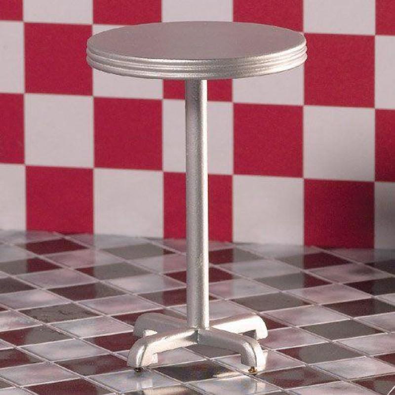 Silver High Circular Table