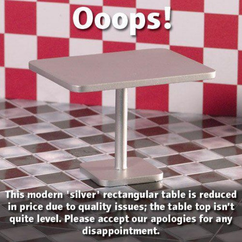 Silver Rectangular Table