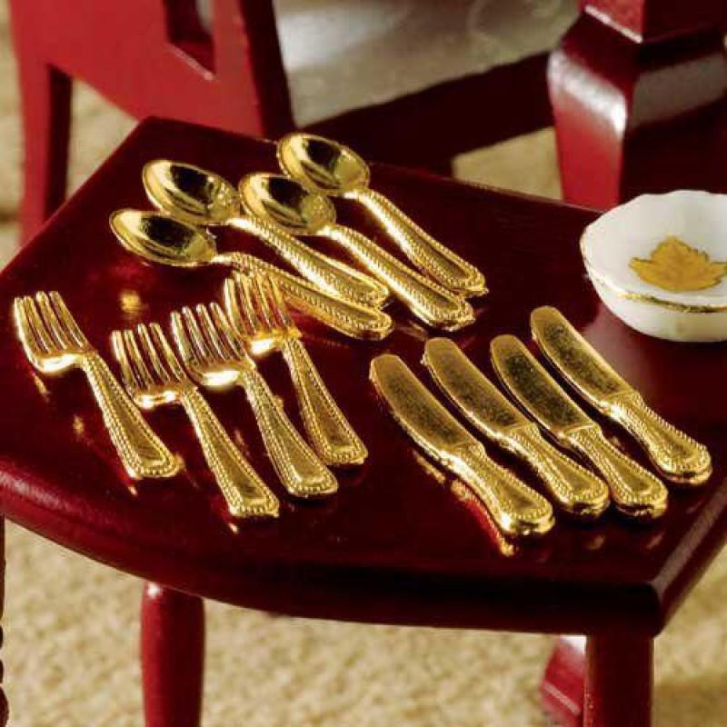 Gold Cutlery, 12 pcs