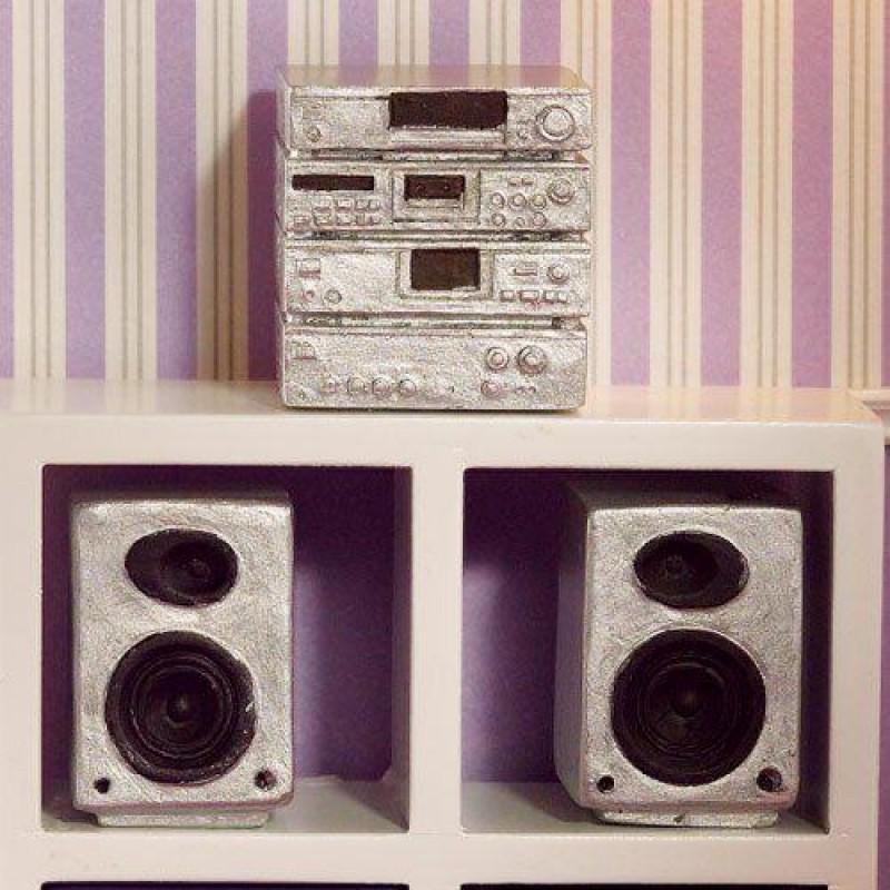 Silver Hi-fi System, 3 pcs