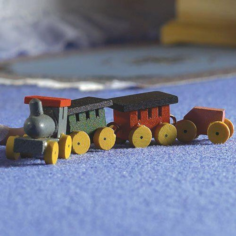Wooden Train & Three Carriages