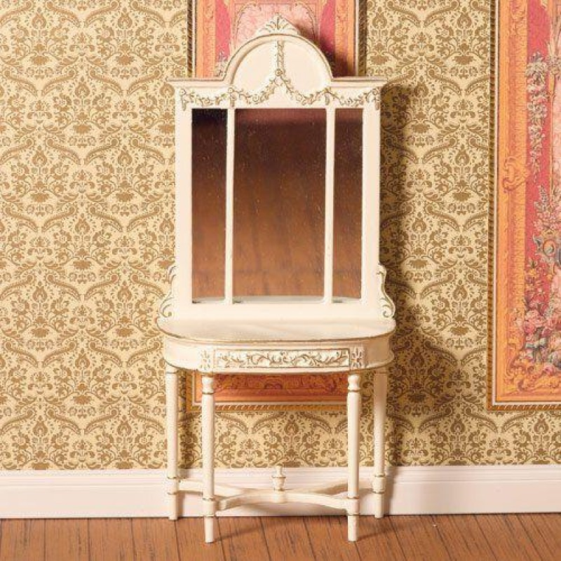 Hand-painted Table with Mirror