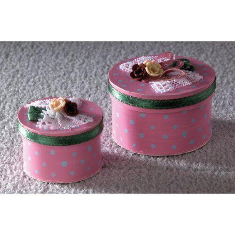 Luxury Pink Hat Boxes, 2 pcs
