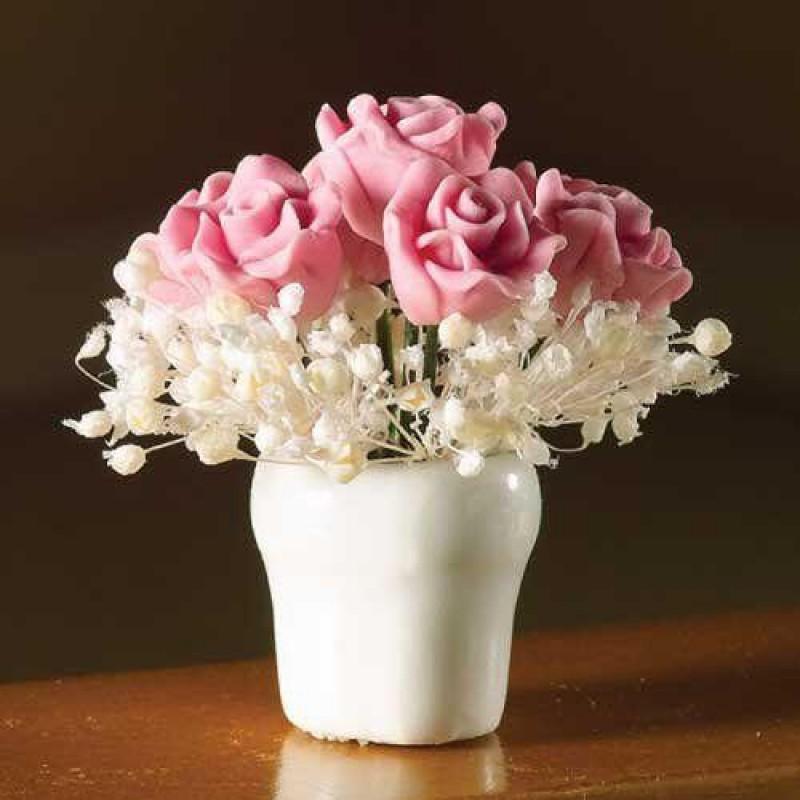 Pink Rose Arrangement in Vase
