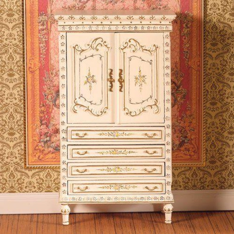 Hand-painted Armoire Cabinet