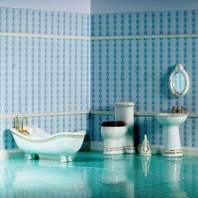 Elegant Savoy Bathroom Set, 6 pcs