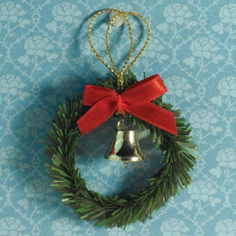 Christmas Wreath, Bow & Bell diameter 50mm