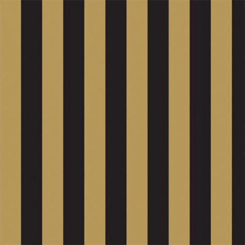 Gold & Black Stripe Wallpaper 430 x 600mm