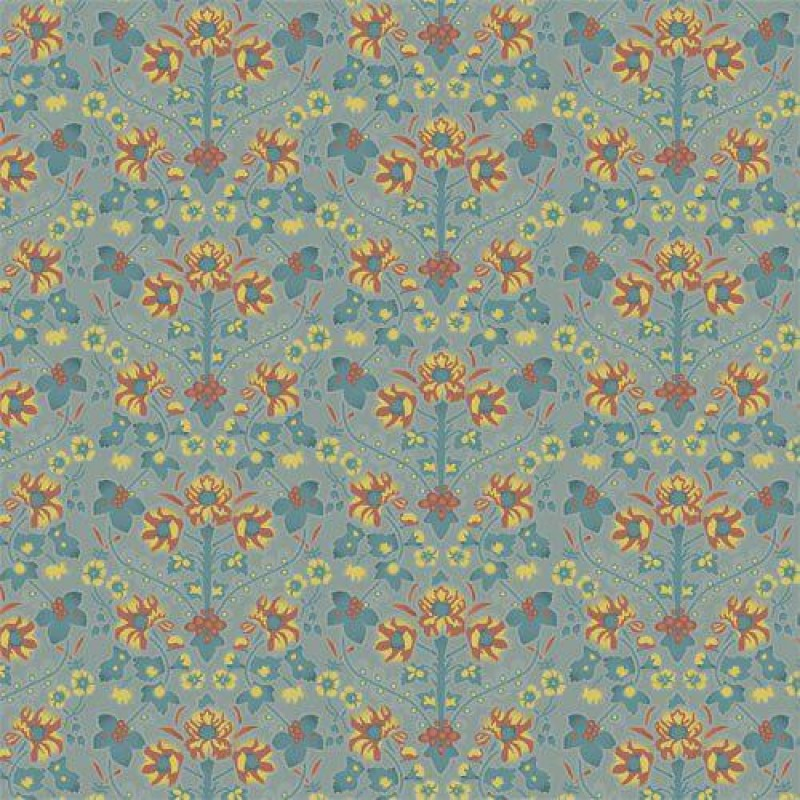 Arts & Crafts Floral Wallpaper 430 x 600mm