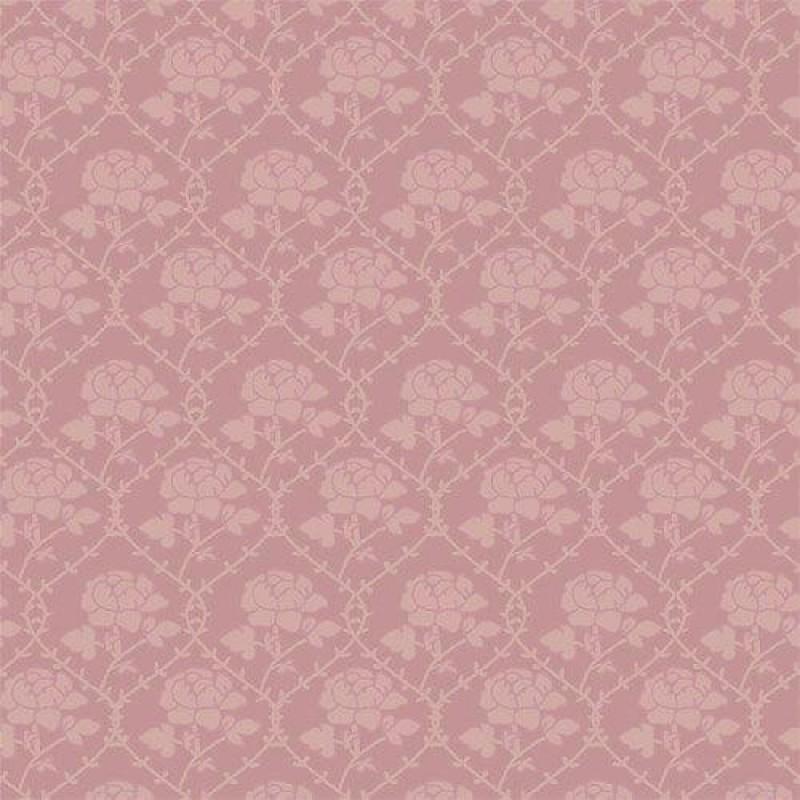 Pink Rose Pattern Wallpaper 430 x 600mm