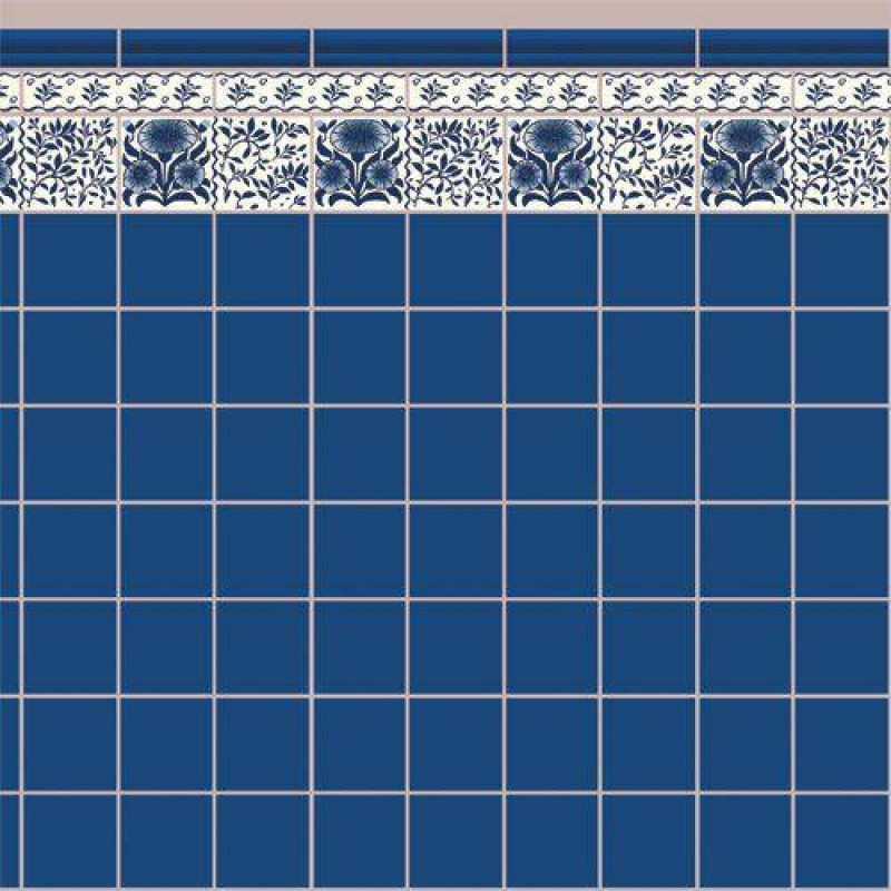 Blue Oreton Tile Paper 430 x 600mm