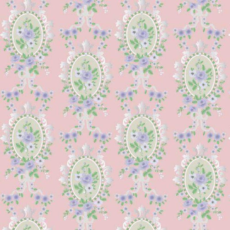 Pink Victorian Cameo Wallpaper 430 x 600mm