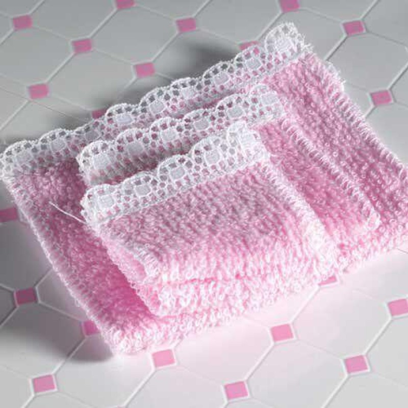 Pink Towel Set, 4 pcs
