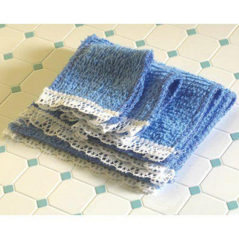 Blue Towel Set, 4 pcs
