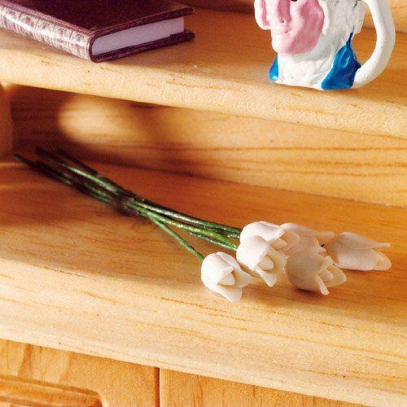 White Tulips, 6 pcs