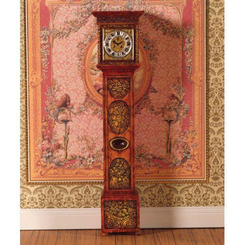 Ornately Carved Grandfather Clock (PR)