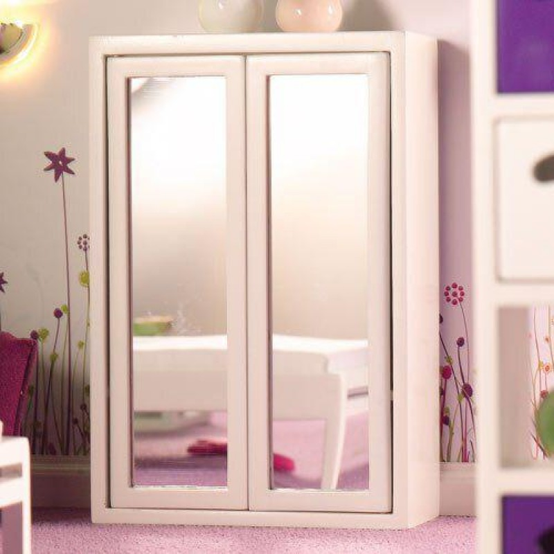 White Mirror Front Wardrobe