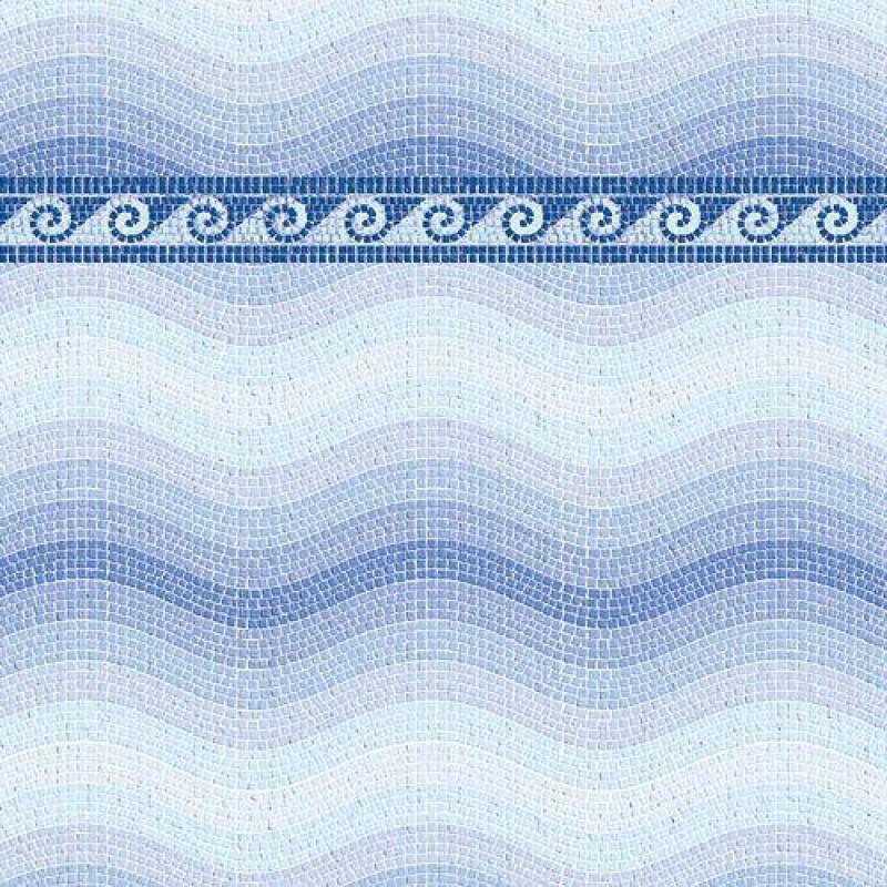Blue Mosaic Paper 430 x 600mm