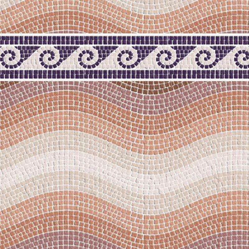 Sand Mosaic Wave Paper with Border 430 x 600mm