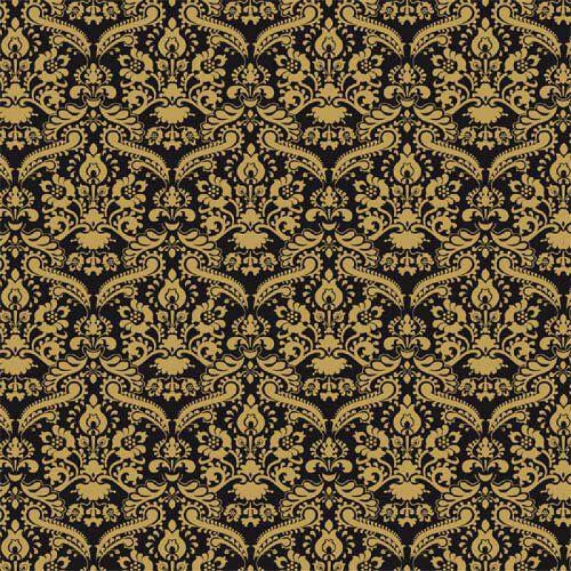 Black Damask Wallpaper 430 x 600mm