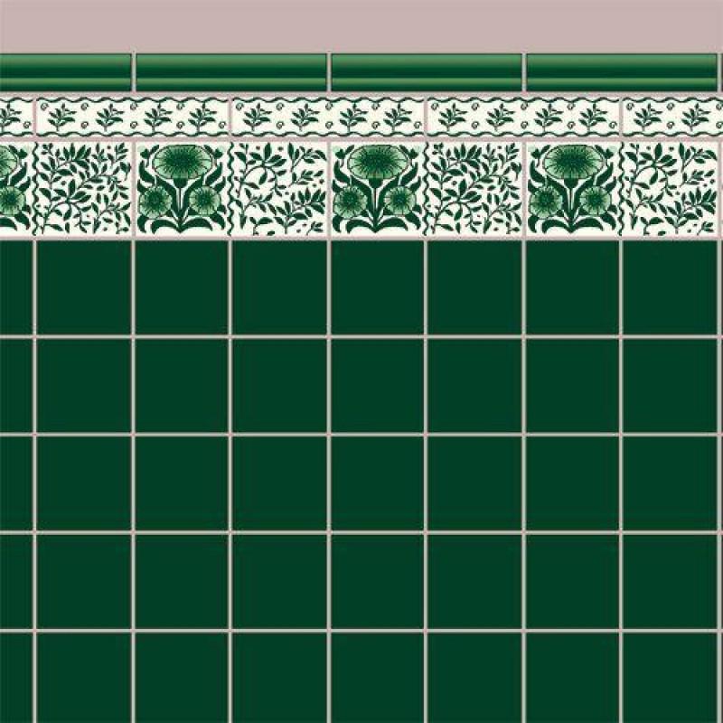 Green Oreton Tile Paper 430 x 600mm
