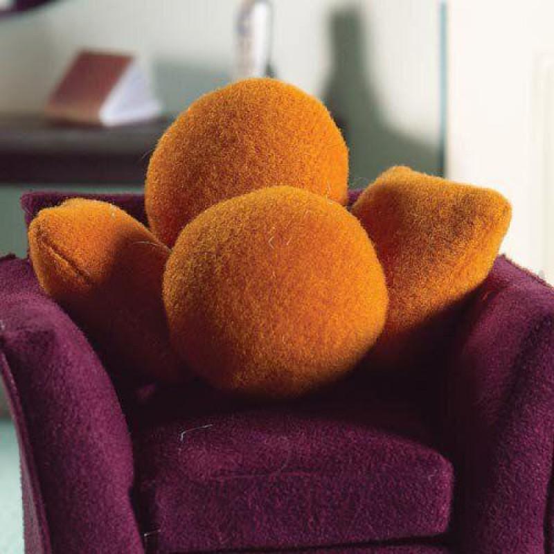 Cushions in Orange, 4 pcs