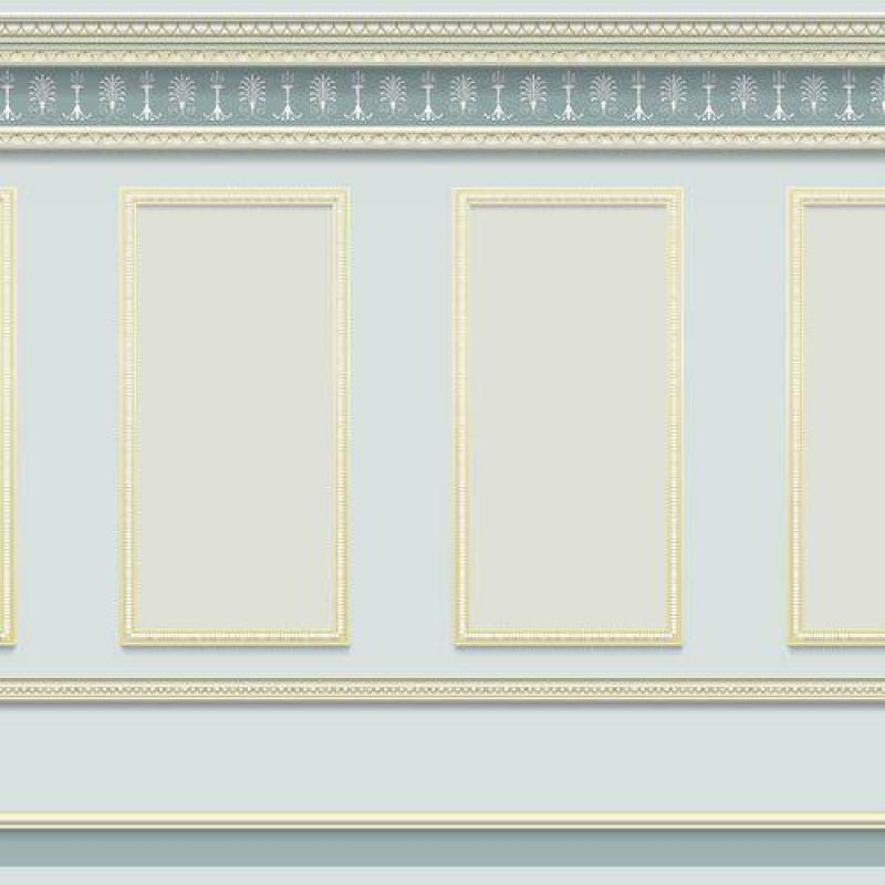 Grey Panelling Wallpaper 430 x 0mm