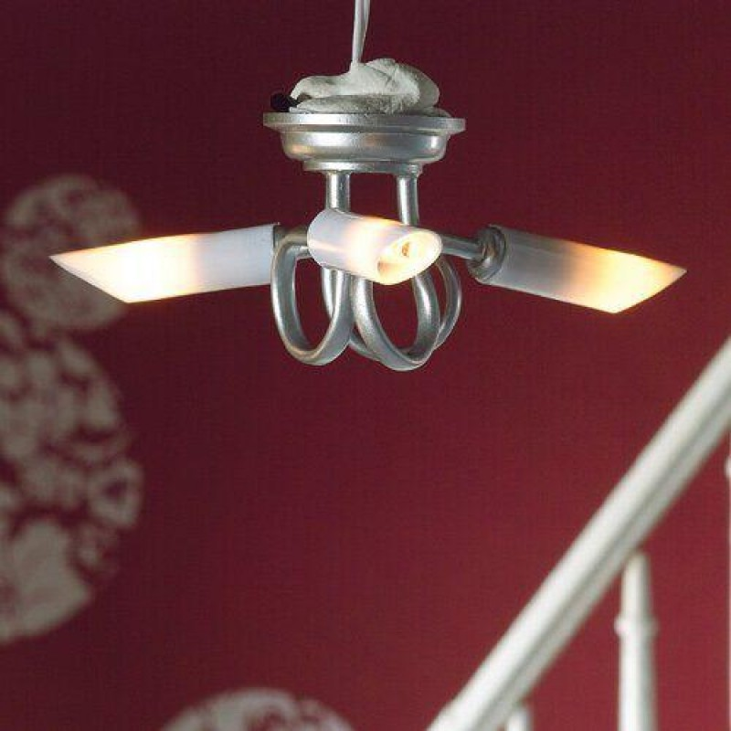 Modern Silver Triple Ceiling Light