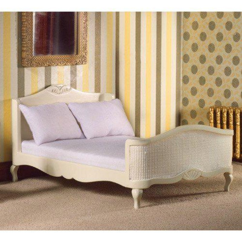 French-style Cream Double Bed