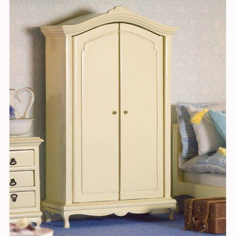 French-style Cream Double Wardrobe