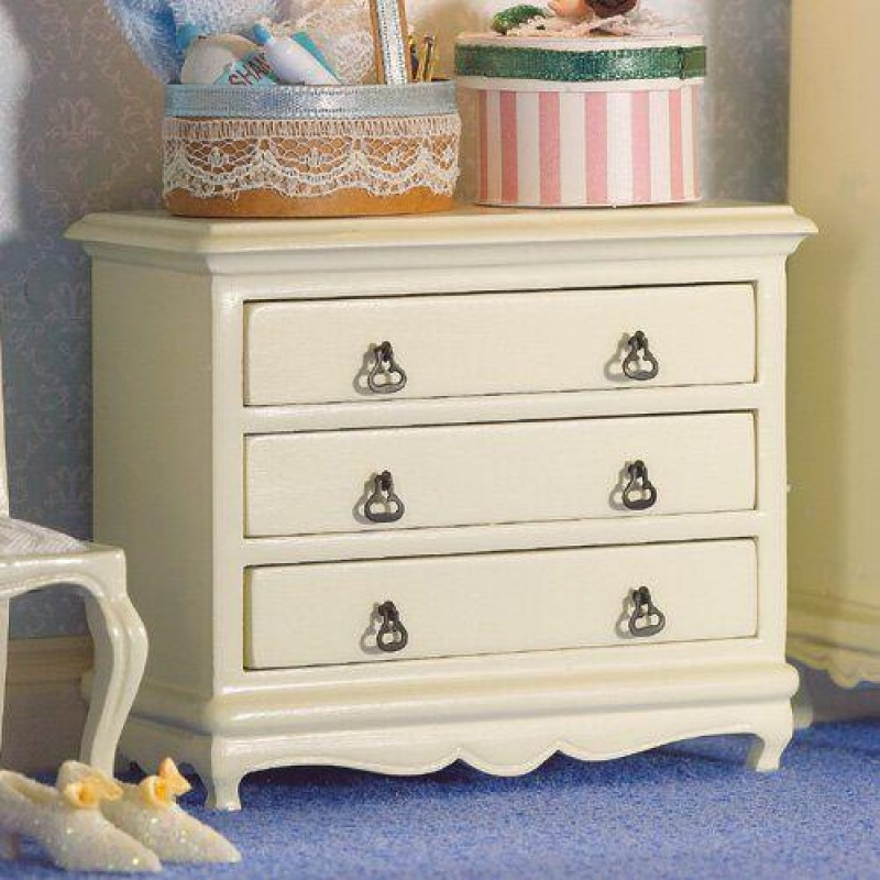 French-style Cream Chest of Drawers