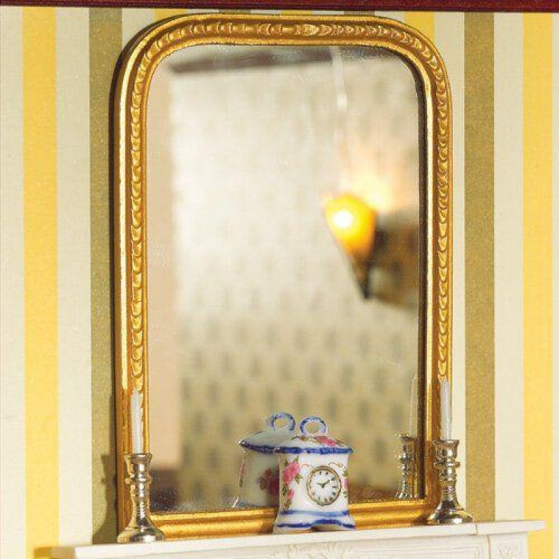 Large Gold Mantel Mirror