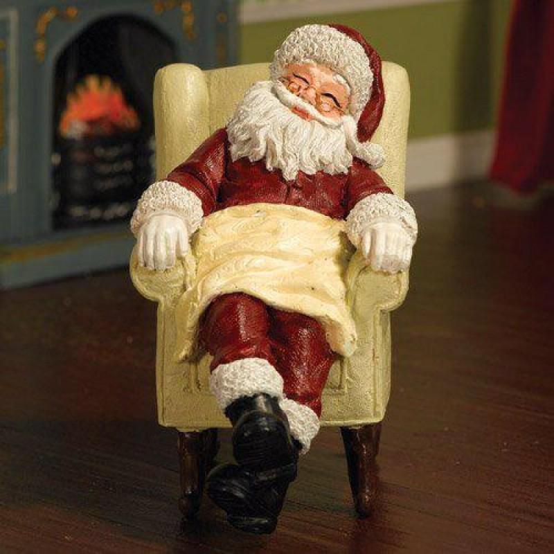 Sleeping Santa in Chair (PR)